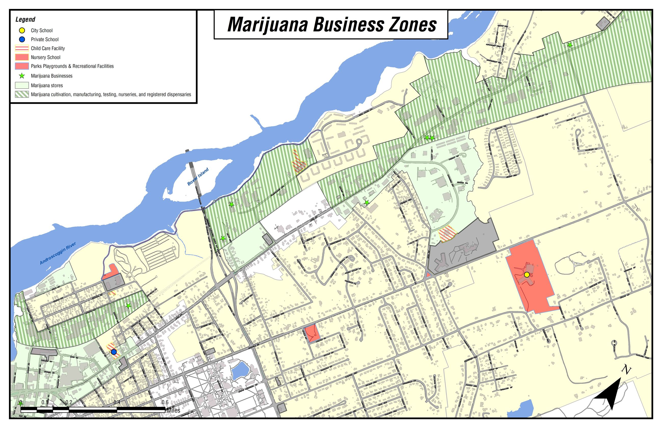 Marijuana Zones Main Street
