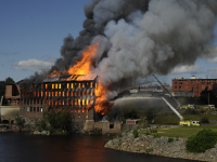 A fire at Cowan Mill