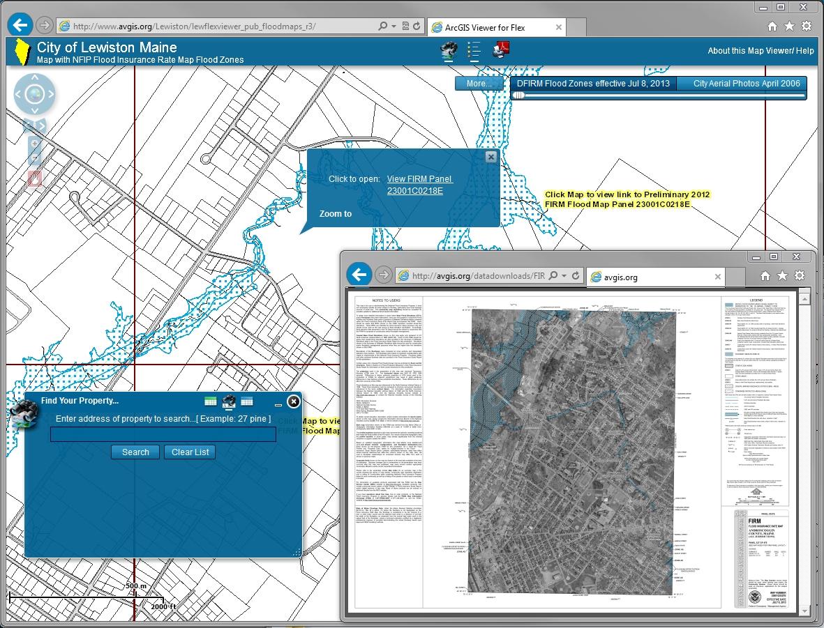 Interactive Flood Map Viewer