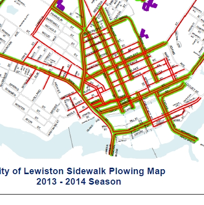 Sidewalk Plowing Map