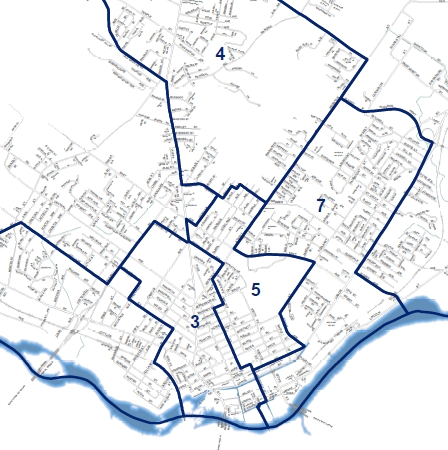 Ward District Map