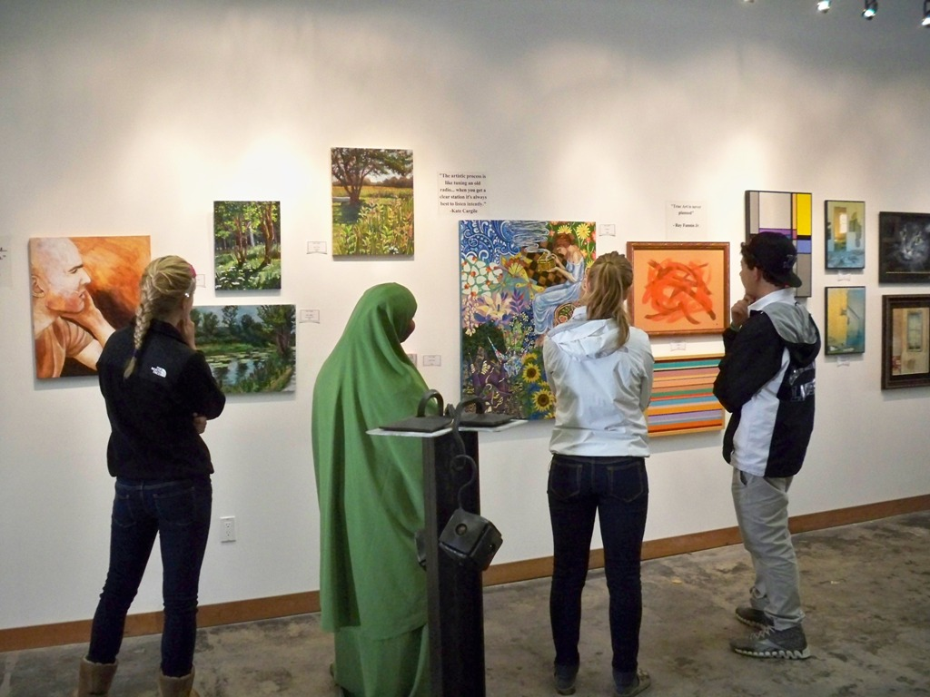 Viewing Art at Captive Elements