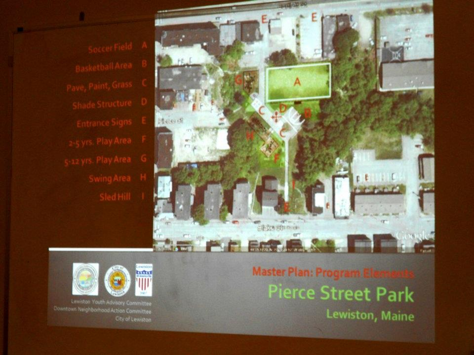 Proposed New Design for Pierce Street Park