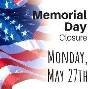 MEMORIAL DAY 2019 - CLOSURE