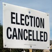 election cancelled - black and white