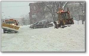 snow removal trucks in snow