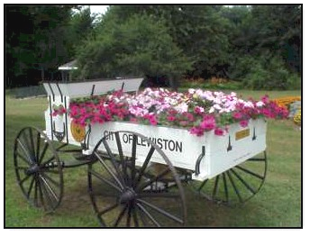 Antique Wagon Flower Planter